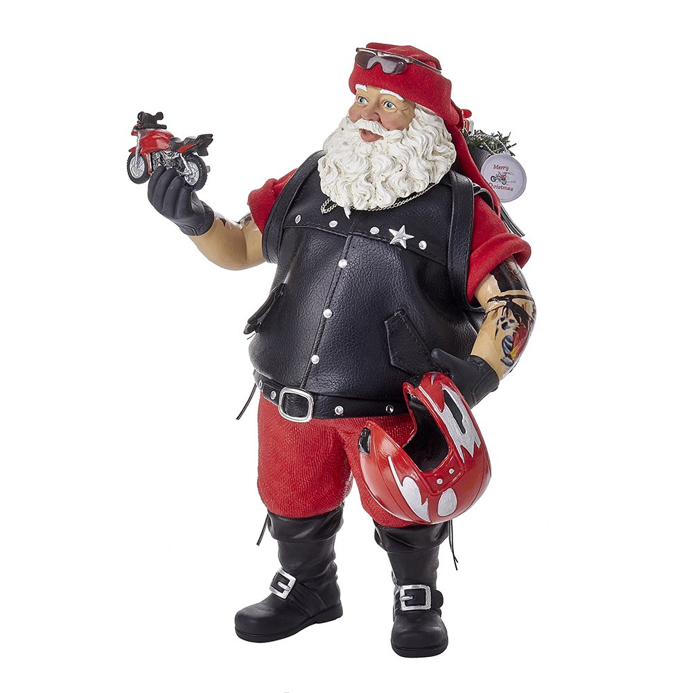 Kurt Adler 11 Fabriche Motorcycle Santa