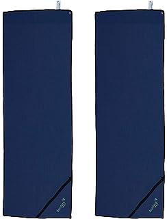 Megachest Paire de Voilage Semi-Transparent Aspect Lin avec 8 /œillets m/étalliques Champagne 140cm Width X 240cm Drop