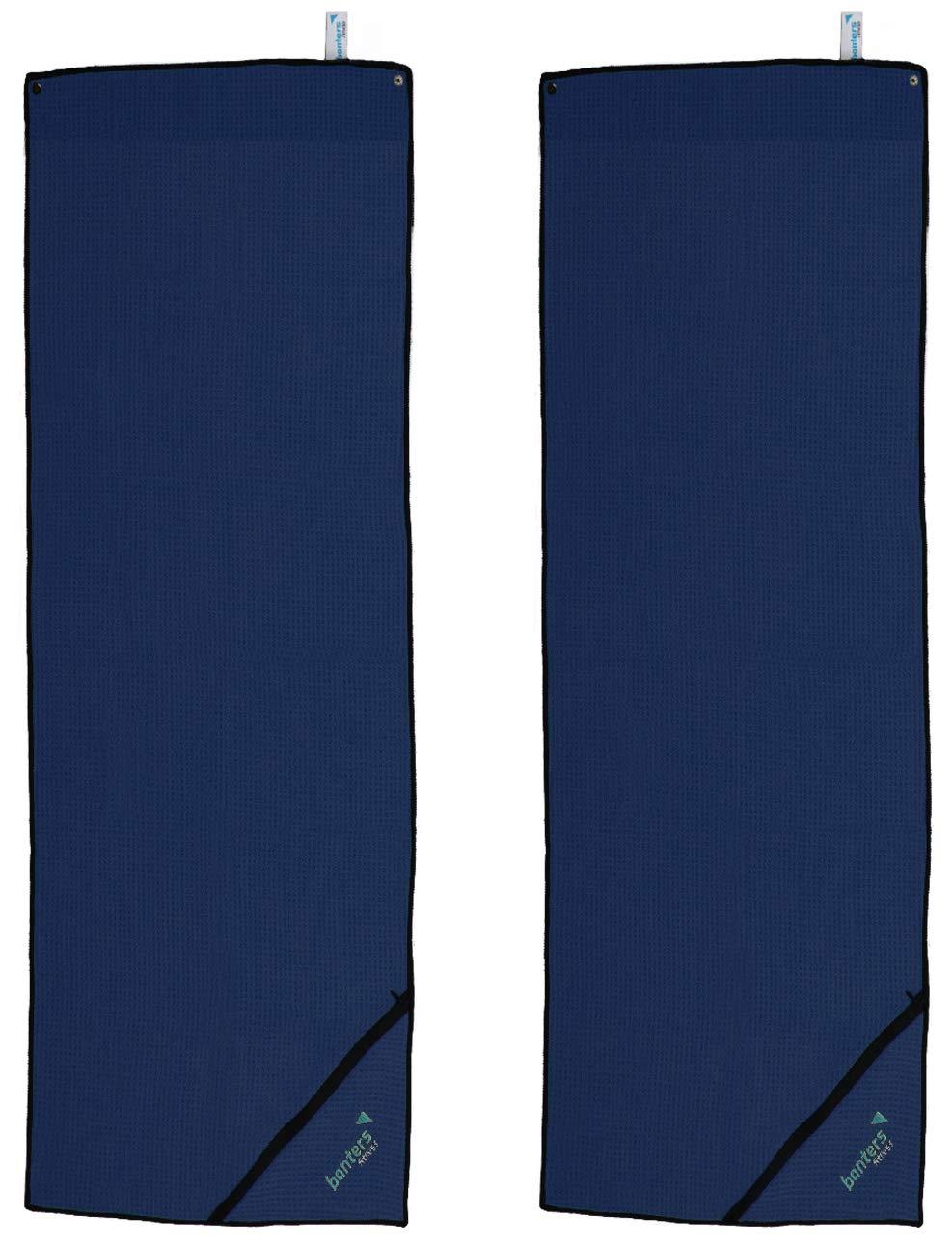 banters Toalla de Microfibra para Deportes y Entrenamiento en el Gimnasio, Azul, 2 pzas: Amazon.es: Deportes y aire libre