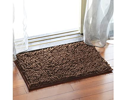 ChezMax Chenille Specific Color Non Slip Indoor Outdoor Hello Doormat Large  Small Inside Outside Front