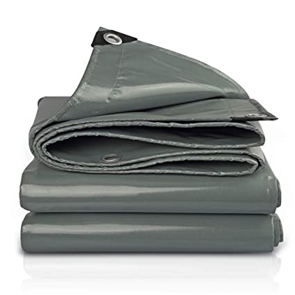 Amazon.com: 1949shop Gray Tent Tarp Cover Poly Tarp Cover ...