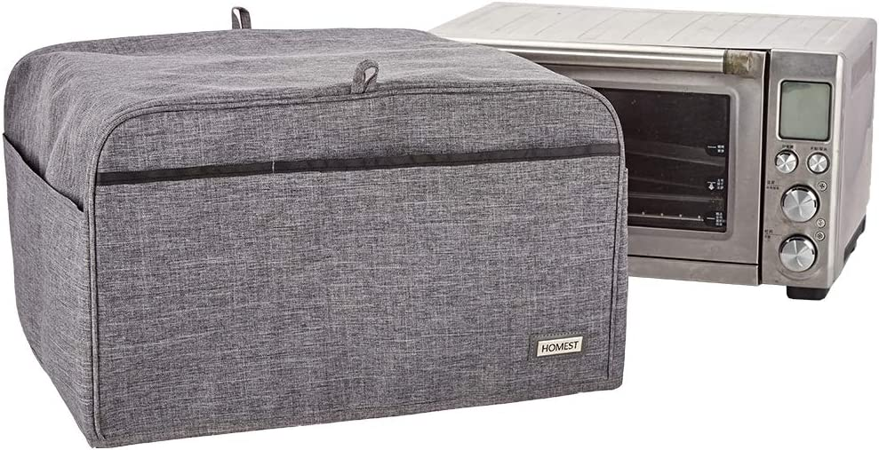 HOMEST Smart Toaster Oven Dust Cover with Accessory Pockets Compatible with Breville Smart Toaster Oven, Grey (Patent Pending)