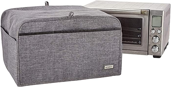 HOMEST Toaster Oven Dust Cover with Accessory Pockets Compatible with Breville Toaster Oven Air Fryer, Grey (Patent Pending)