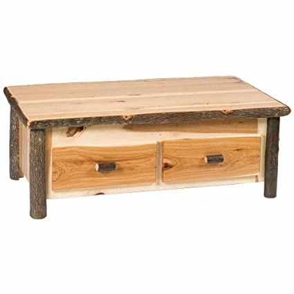Hickory Coffee Table With Elevating Top Real High Quality Wood Western Lodge