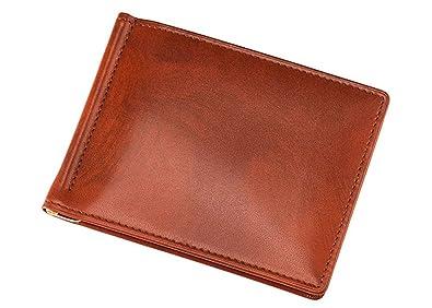 5ce1d81273c9 Amazon | 【キプリス】札ばさみ/マネークリップ□シラサギレザー 8225(チャ) | Cypris(キプリス) | 財布