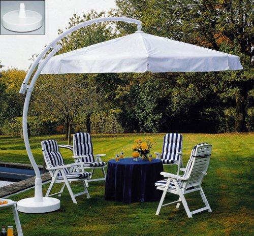 Sun Garden Ampelschirm Easy Sun Parasol, blau/weiß