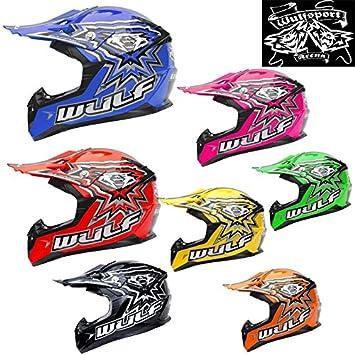 Wulfsport Cub Kids Flite juventud casco de Motocross Off Road Moto Casco + Leopardo Gafas &