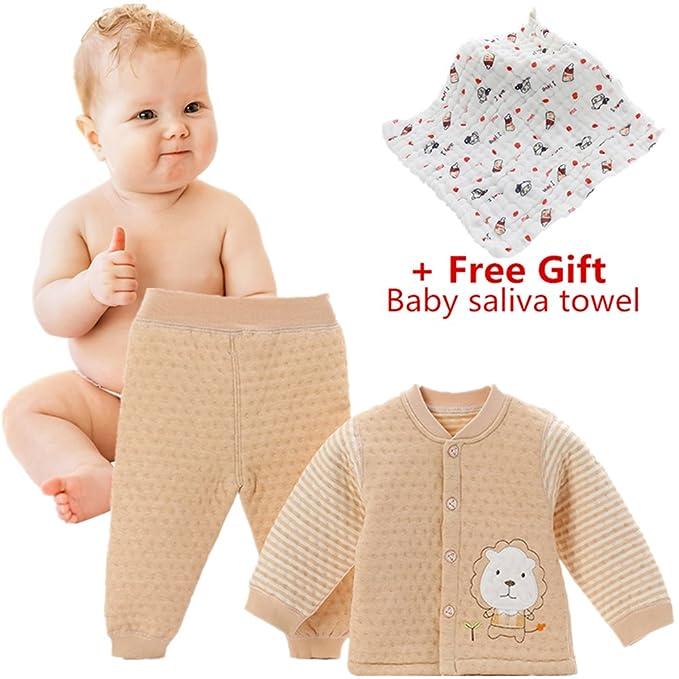 Chickwin Pijamas de bebé, Puros cálidos de algodón otoño e Invierno ...