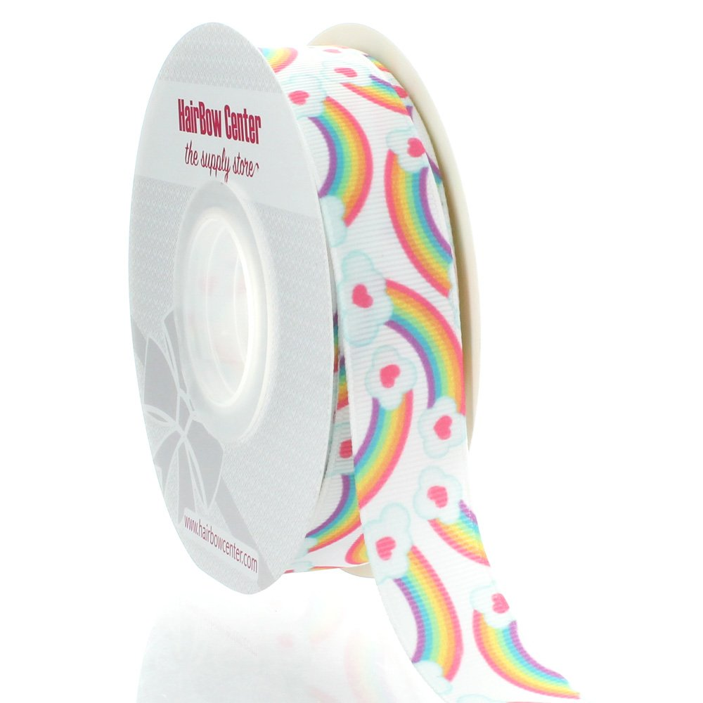 7/8 Rainbows Grosgrain Ribbon 25yd