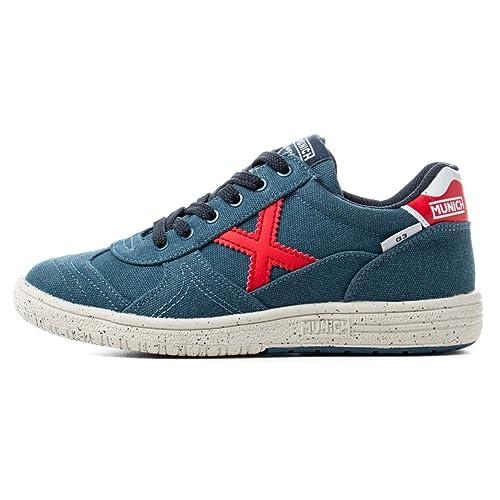Munich Sport G3 Canvas - Zapatillas Niño Azul Talla 37: Amazon.es: Zapatos y complementos