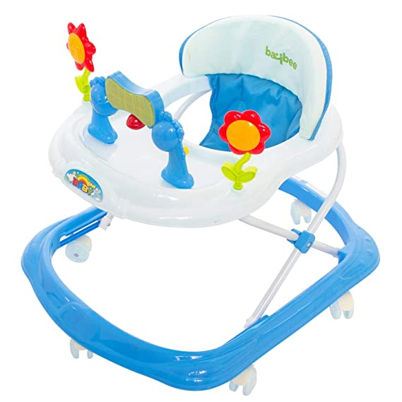 GoodLuck Baybee Round Baby Walker for Kids | Music & Light Function with 3 Position Height Adjustable kis Walker,Fun Toys & Activities for Babies/Childs (6 Months to 2 Years) (Blue)