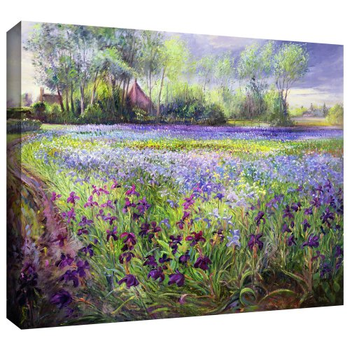 ArtWall 'Trackway Past The Iris Field' -Canvas Art