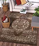 "Well Woven Francesca Medallion Brown Distressed Traditional Vintage Persian Floral Oriental Accent Area Rug 4×5 (3'11"" x 5'3″) Carpet Review"