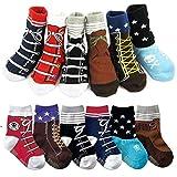 6 Pairs Baby Anti Slip Ankle Socks Infant Toddler