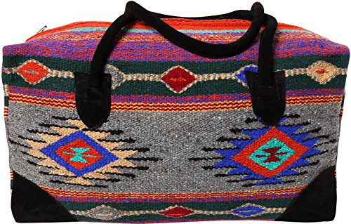 f7c5f77a97d1 El Paso Designs Southwest Duffel Bag- Camino Real Native American and  Mexican Style Jumbo Large