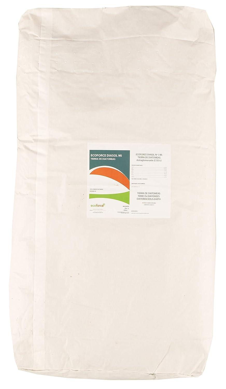 ecoforce CULTIVERS Tierra de Diatomeas micronizada 600 kg en 30 Sacos de 20 kg. No calcinada de Alta pureza, sin tratamientos ni residuos. Apto para ...