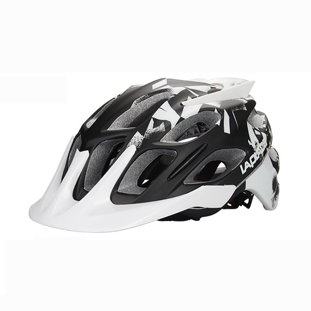MIAO Fahrradhelm - Outdoor-Sicherheit Nahtlose PC Shell Mountainbike Helm innen EPS-Schaum Weiß