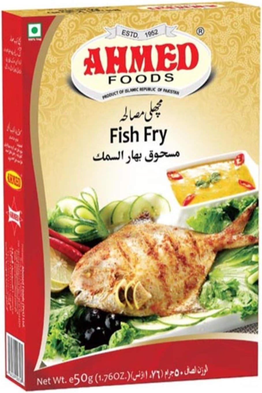 Ahmed Foods Fish Fry Masala 50g Amazon Co Uk Grocery