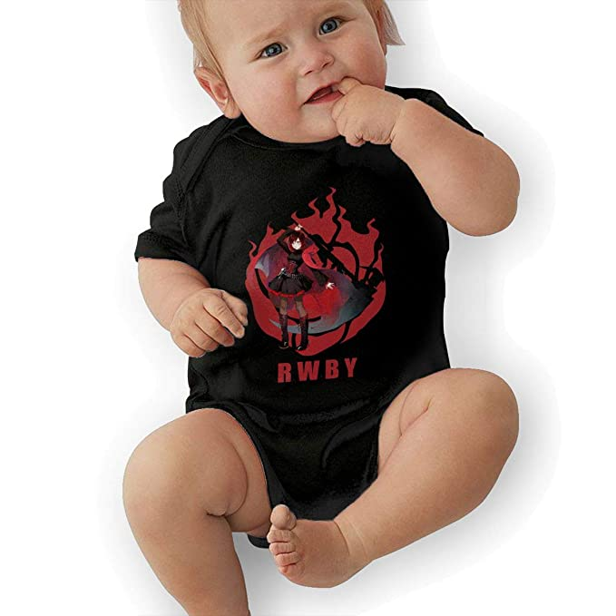 caaf8e6479d Ivy Morgan RWBY Ruby Rose Baby Jersey Bodysuit Cotton Bodysuit 0-3M Black