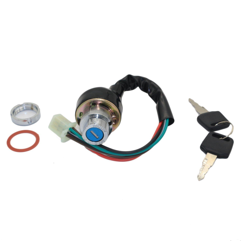Jingke 6 Wire Pin Ignition Key Switch For Kazuma Meerkat 50cc Atv Starter Wiring Falcon Roketa 70cc 90cc 110 125cc Automotive