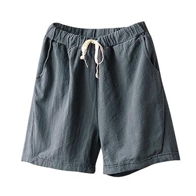 a94e26173c60d4 TUDUZ Bermuda Shorts Damen Shorts Sommer Kurze Hose mit Gummizug Frauen  Große Größen Loose Stoffhose Stretch