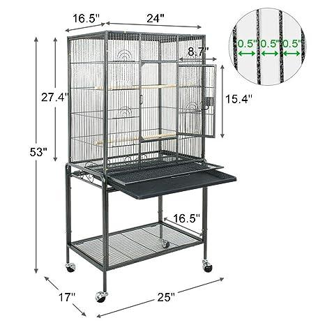 Amazon.com: Jaula para pájaros grande de hierro forjado y ...