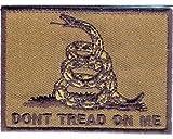 Cheap Black on Army Green Khaki GADSDEN FLAG Dont Tread On Me Biker NEW PATCH PAT-3157