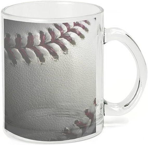 Glass Coffee Cup Mug Baseball Stitch Kitchen Dining