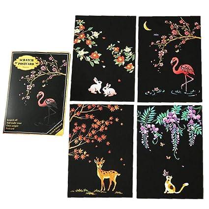 4pcs / Conjunto Disponible De Bricolaje Postal De Cumpleaños ...