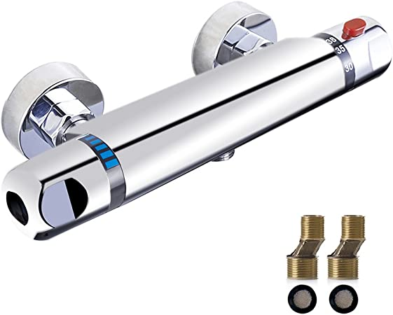 cromado Grifo mezclador termost/ático para ducha Rozin