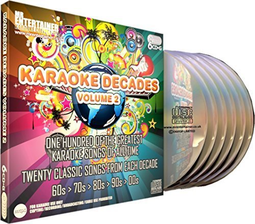 Mr Entertainer Karaoke Decades Volume 2 - 100 Song 6 Disc CD+G (CDG) Pack by Elvis Presley