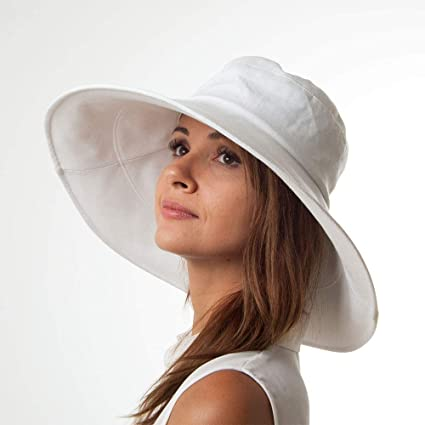 Village Hats sur la t/ête knautschbarer Sonnenhut Monaco Wei/ß