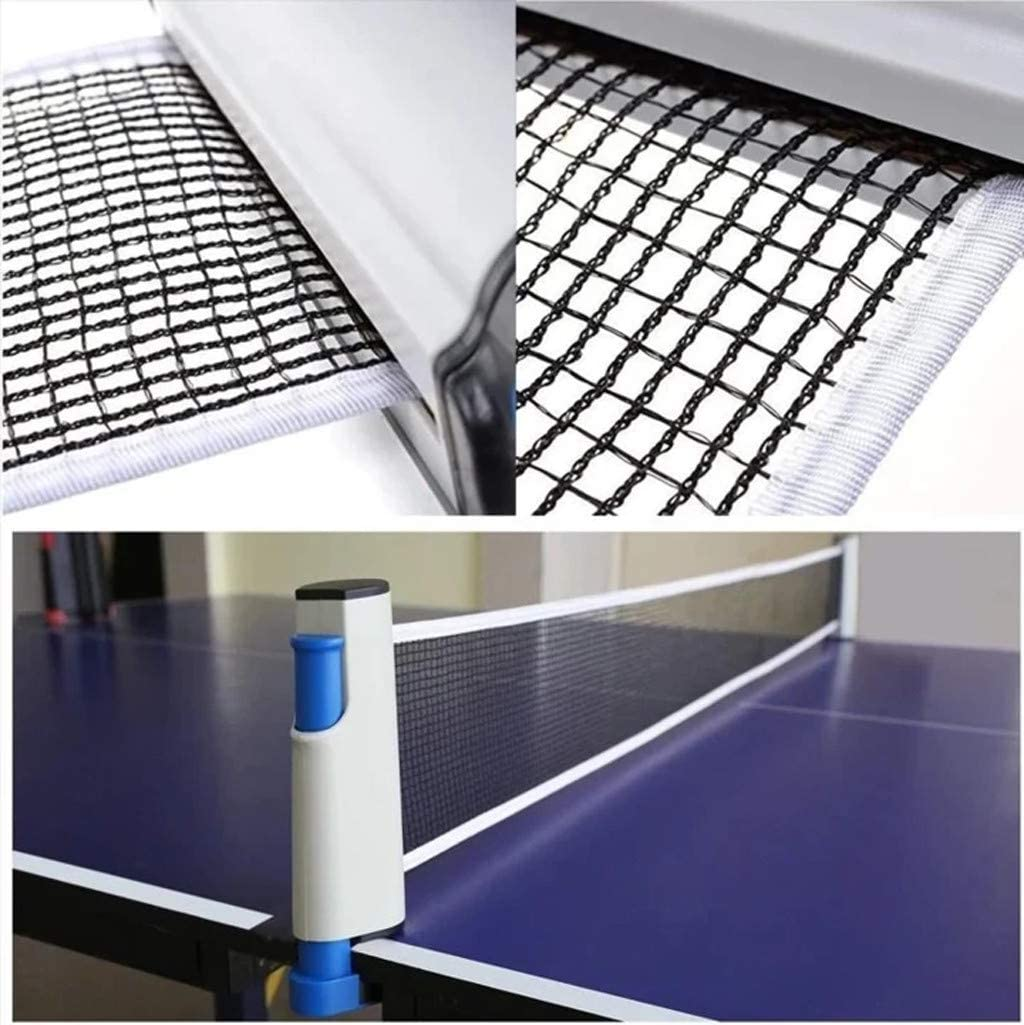 Wanshop Retractable Ping Pong Net,Table Tennis Net Portable Ping Pong Accessories Net Replacement Perfect for Table Tennis Plates Adjustable Length