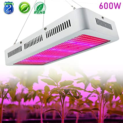 Amazon.com : Derlights High Power 600W Led Grow Light Full Spectrum ...