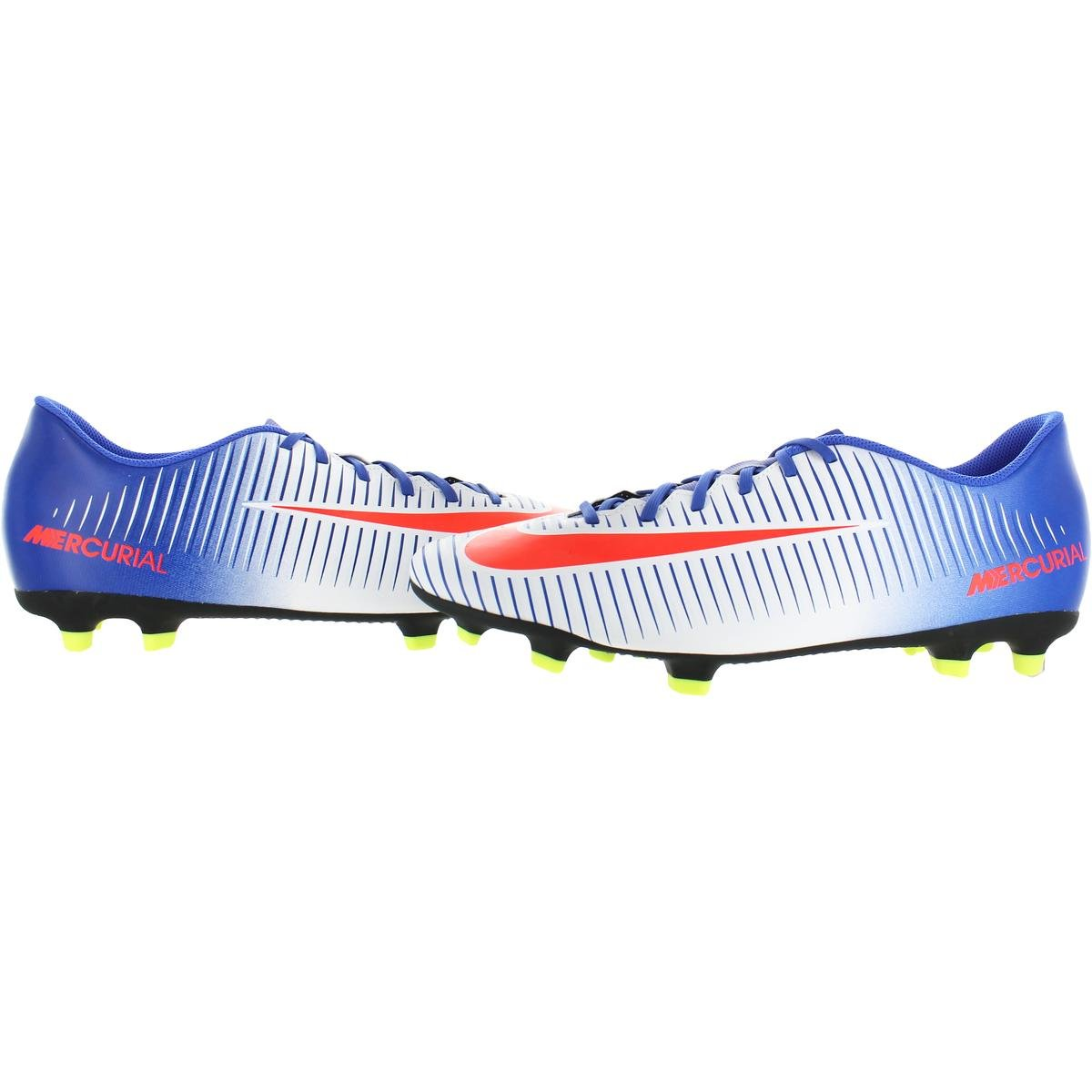 differently 0b243 2132c Amazon.com   Nike Womens Mercurial Vortex 3 FG Soccer Striped Cleats White  13 Medium (B, M)   Soccer