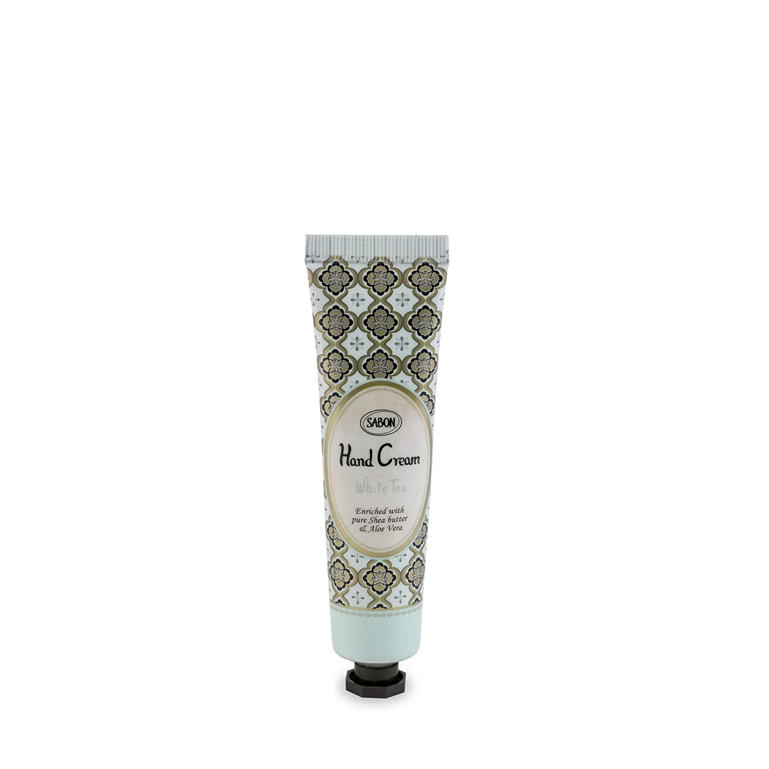 SABON Sabon - Mini Hand Cream - Hand Sanitizer with Aloe Vera Extracts and Shea Butter - SLS and Paraben Free - White Tea, White Tea, 30 ct.