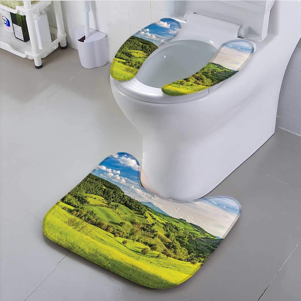 Use The Toilet seat Tuscany Italy Sunlight Homestead Plantation Farms Pathway Greenery Picture Non-Slip
