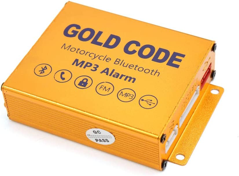 sourcing map 2uds Altavoces Sistema Audio Reproductor de Mp3 USB Est/éreo Control Remoto Kit de Alarma para Moto