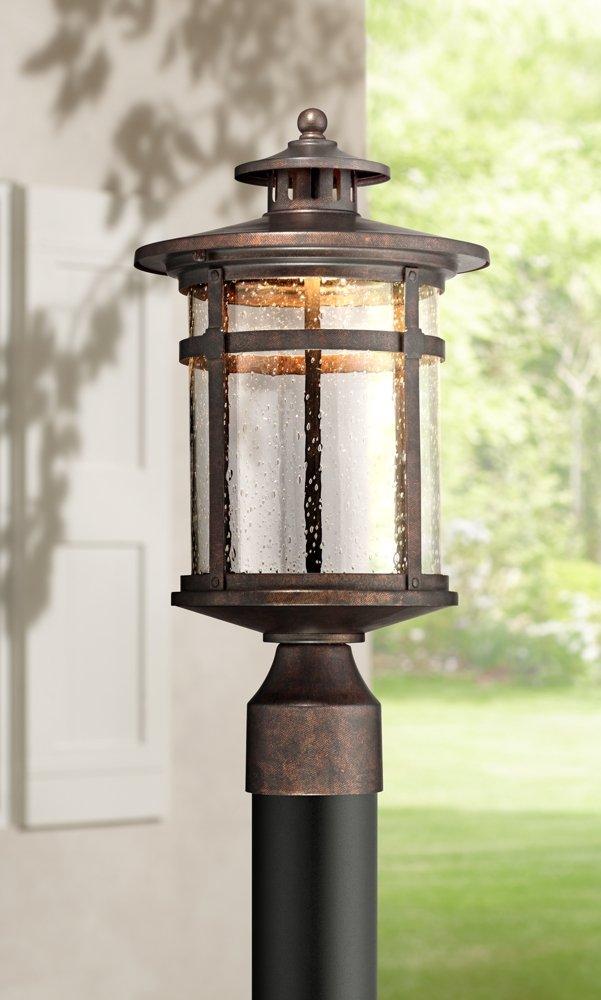 "Callaway 15 1/2"" High Rustic Bronze LED Outdoor Post Light"