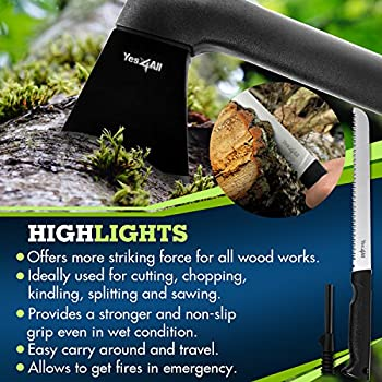 Yes4all Multi Functional Camping Axe H307 With Saw + Fire Starter - ?Baavz 3