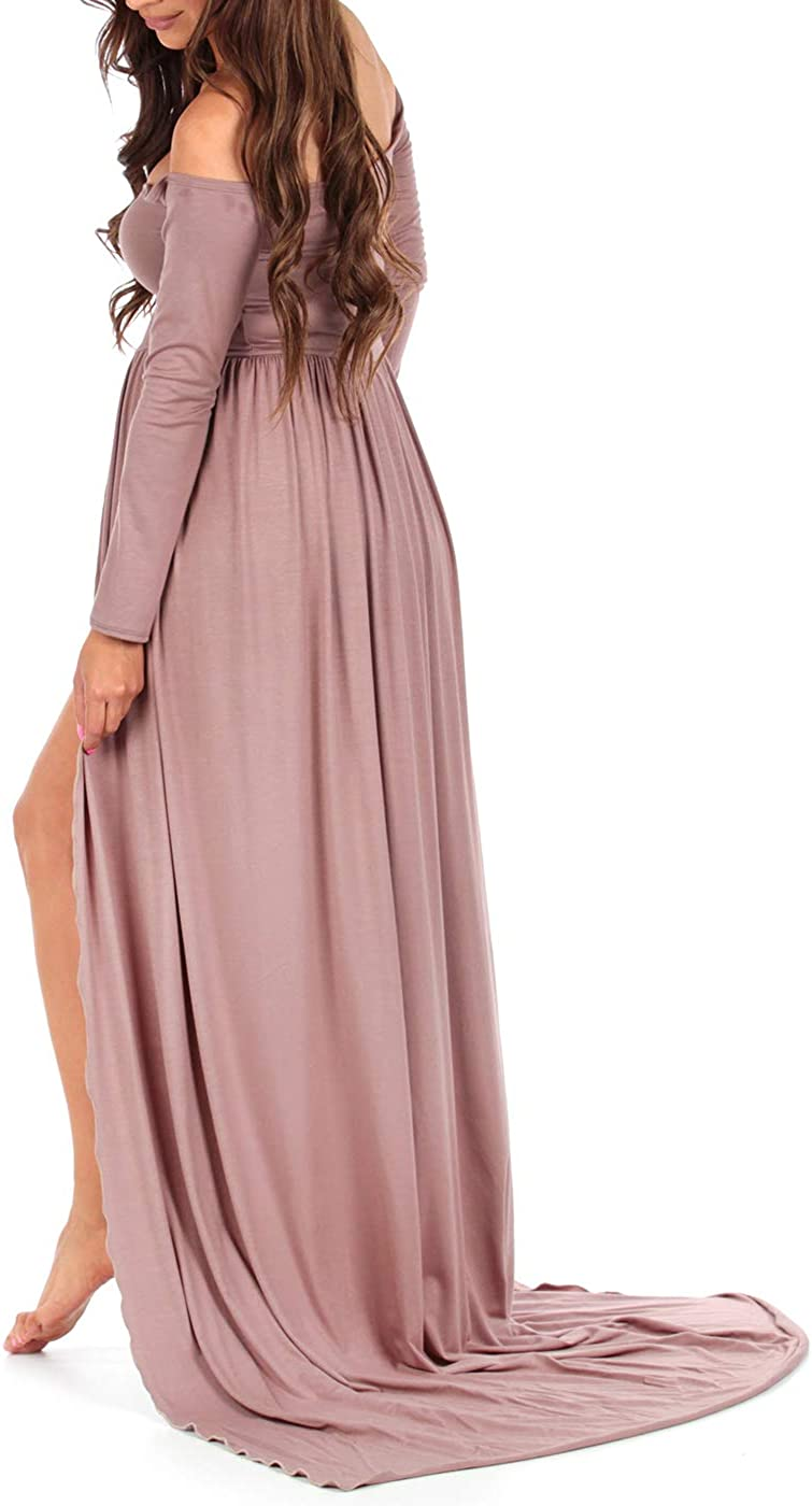Off Shoulder Maternity Gown for Photo Shoots