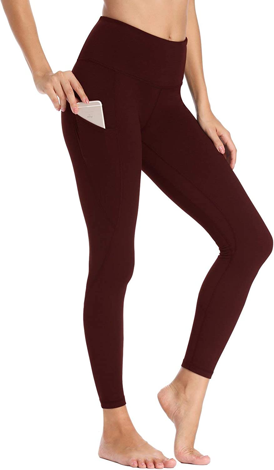 Willit Womens Fleece Lined Leggings Winter Yoga Running Leggings with Pockets High Waisted Pants Workout Thermal Tights
