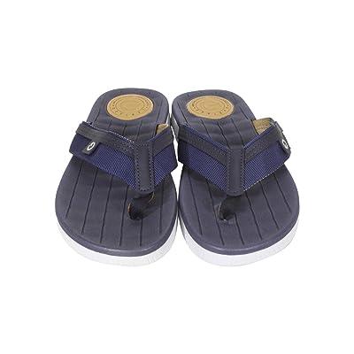 Cartago Men's Napoles Comfort Sandal Insole Plush Waffle-Texture White/Blue 2003211404 Size 10 | Sandals