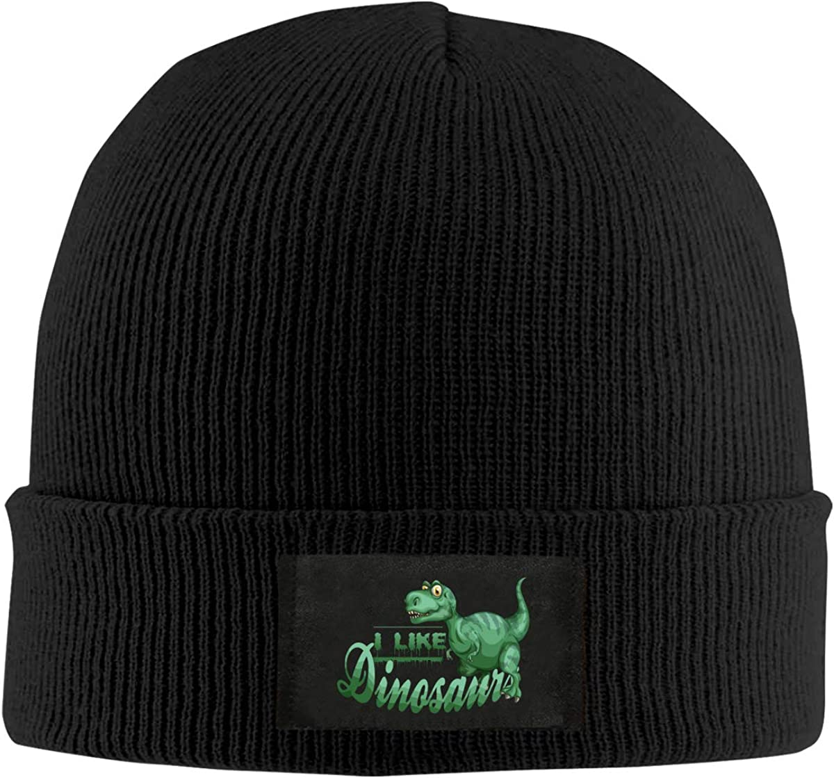 I Love Dinosaurs Fall Winter Thanksgiving Mens Beanies Cap Soft Knit Hats