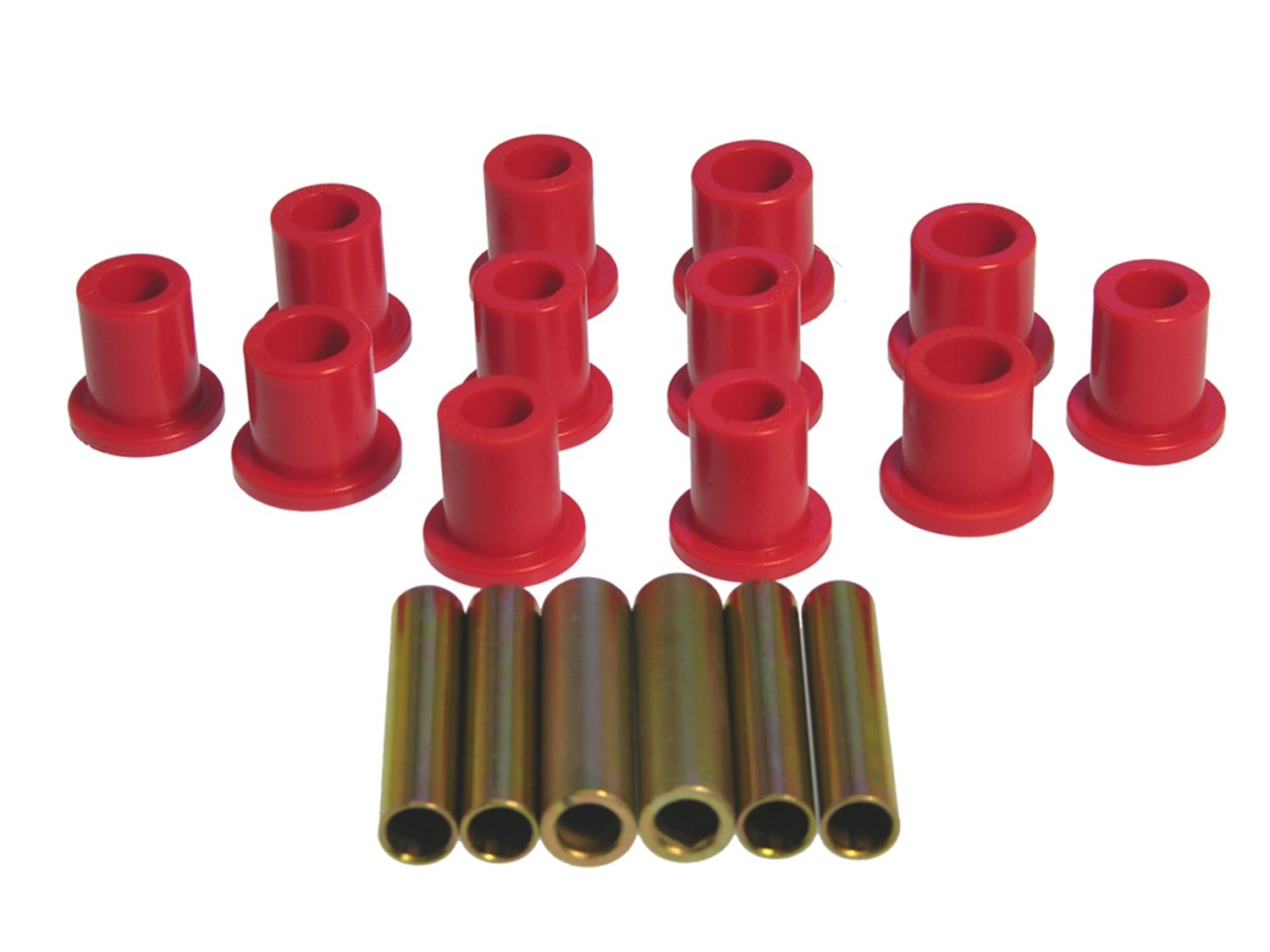 Prothane 4-1007 Red Rear Spring Eye and Shackle Bushing Kit