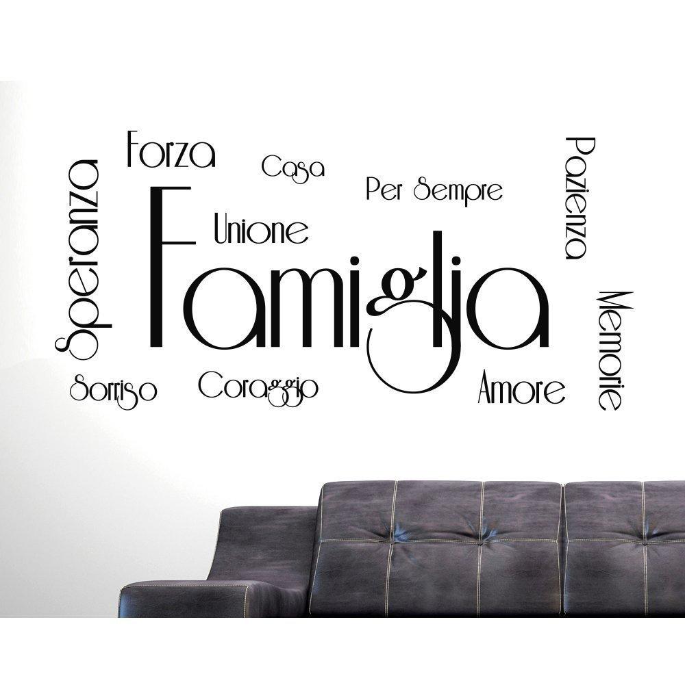 ADESIVI MURALI FRASI CITAZIONI FAMIGLIA AMORE CASA SPERANZA FORZA CORAGGIO SORRISO MEMORIE Wall Stickers Adesivo Murale Frase Famiglia Amore Decorazione interni Frasi e Citazion