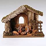 Fontanini 6 Piece Italian Christmas Nativity Set with Wooden Stable 54421 Italy