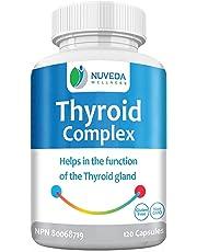 Thyroid Support Supplement - Metabolism, Energy and Focus Formula - Vegetarian & Non-GMO - L-Glutathion, Vitamin B Complex (B1,B6,B12) , Zinc, Selenium, Iodine, Kelp, Ashwagandha, Copper, Magnesium & more - 120 Capsules