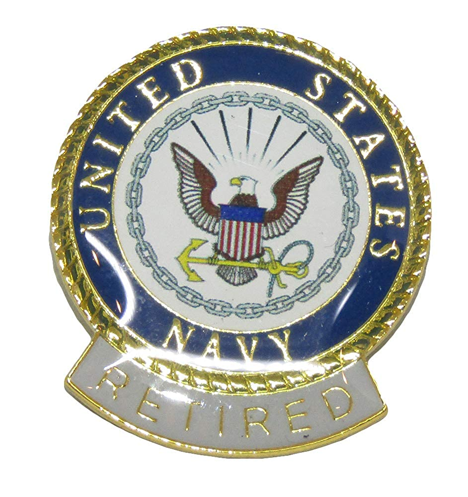 wholesale pack of 3 united states navy retired flag hat cap lapel