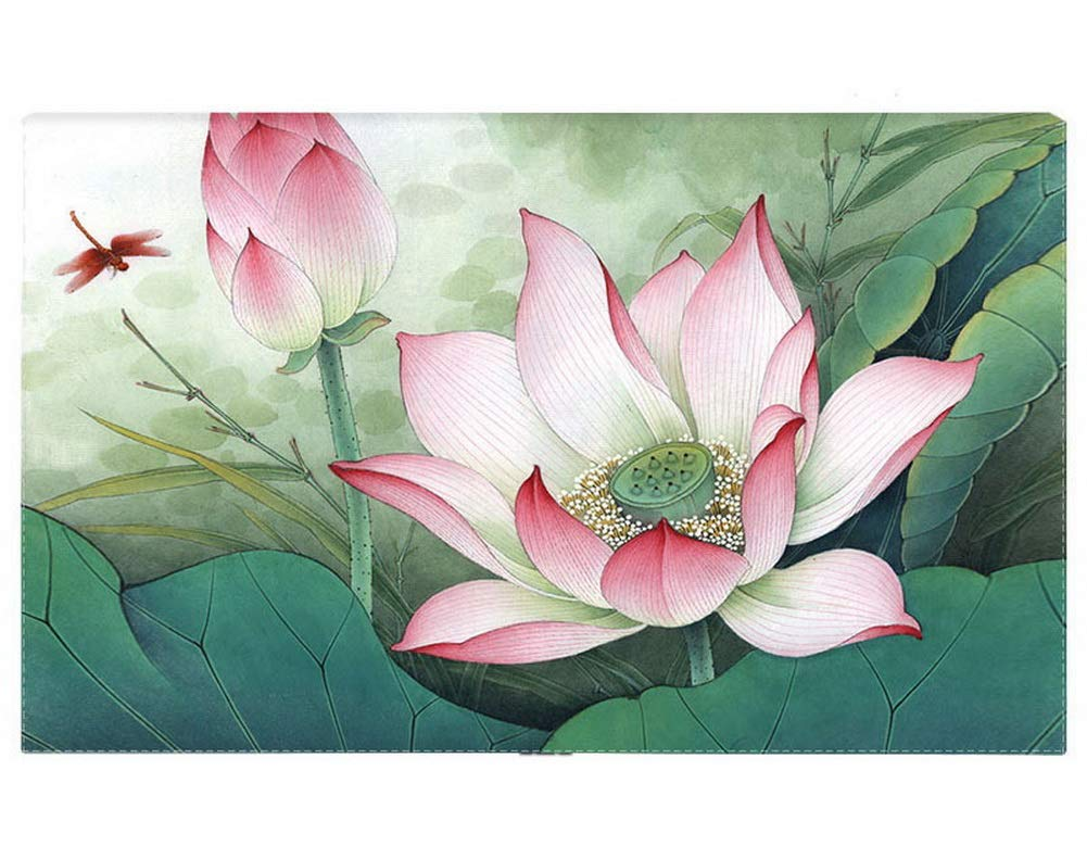 Gentle Meow Home Creative 50-Inch TV Cloth Decorative Dustproof Cover, Large Lotus